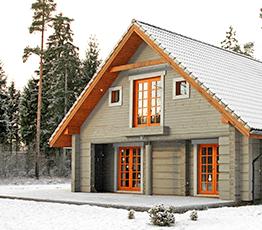 Строительство домов из лафета в Ялте